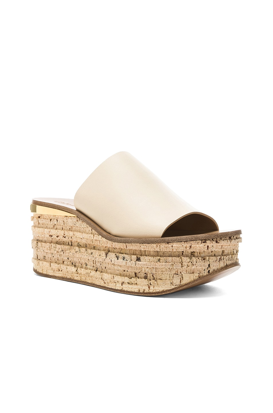 Image 2 of Chloe Platform Sandals in Mild Beige