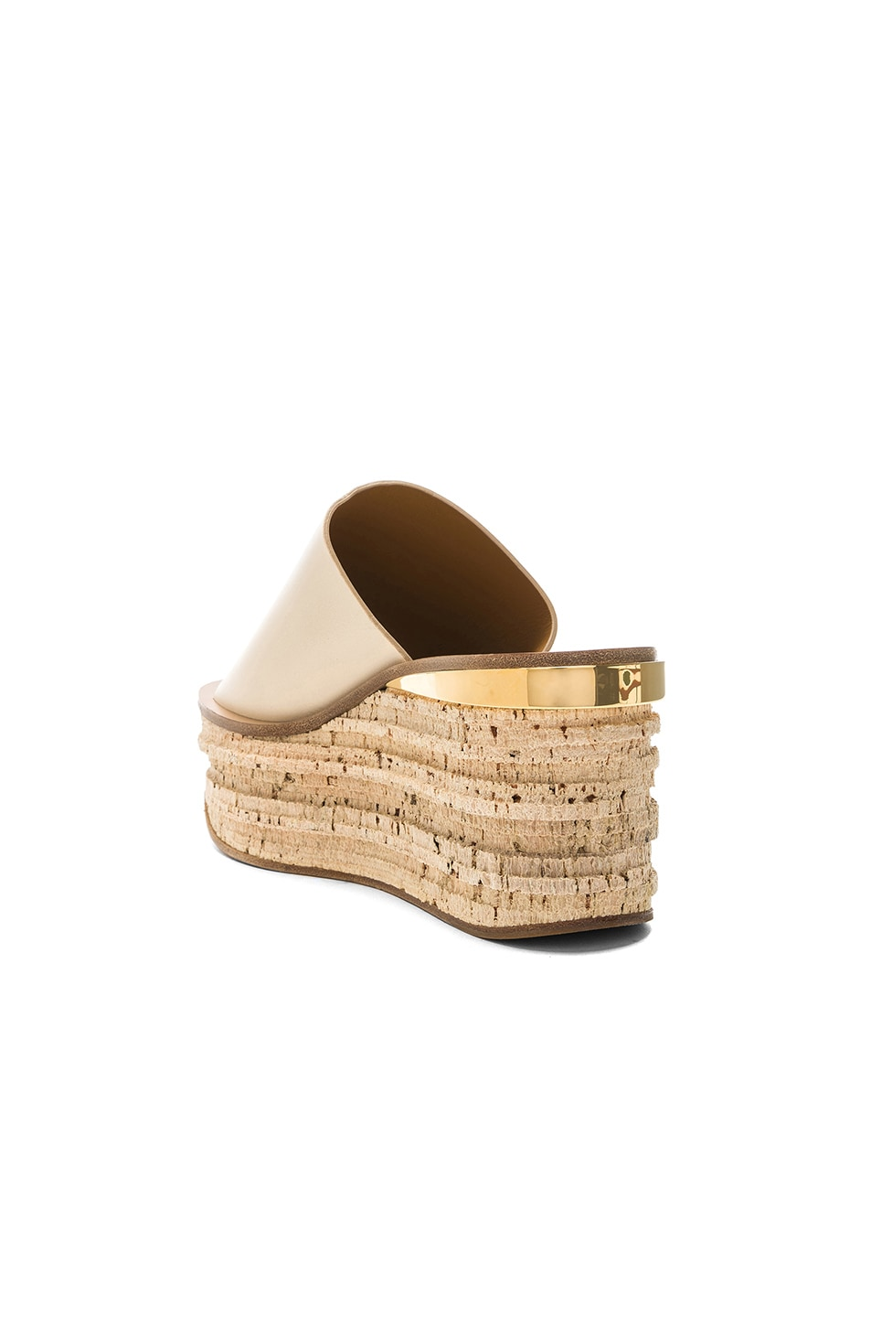 Image 3 of Chloe Platform Sandals in Mild Beige