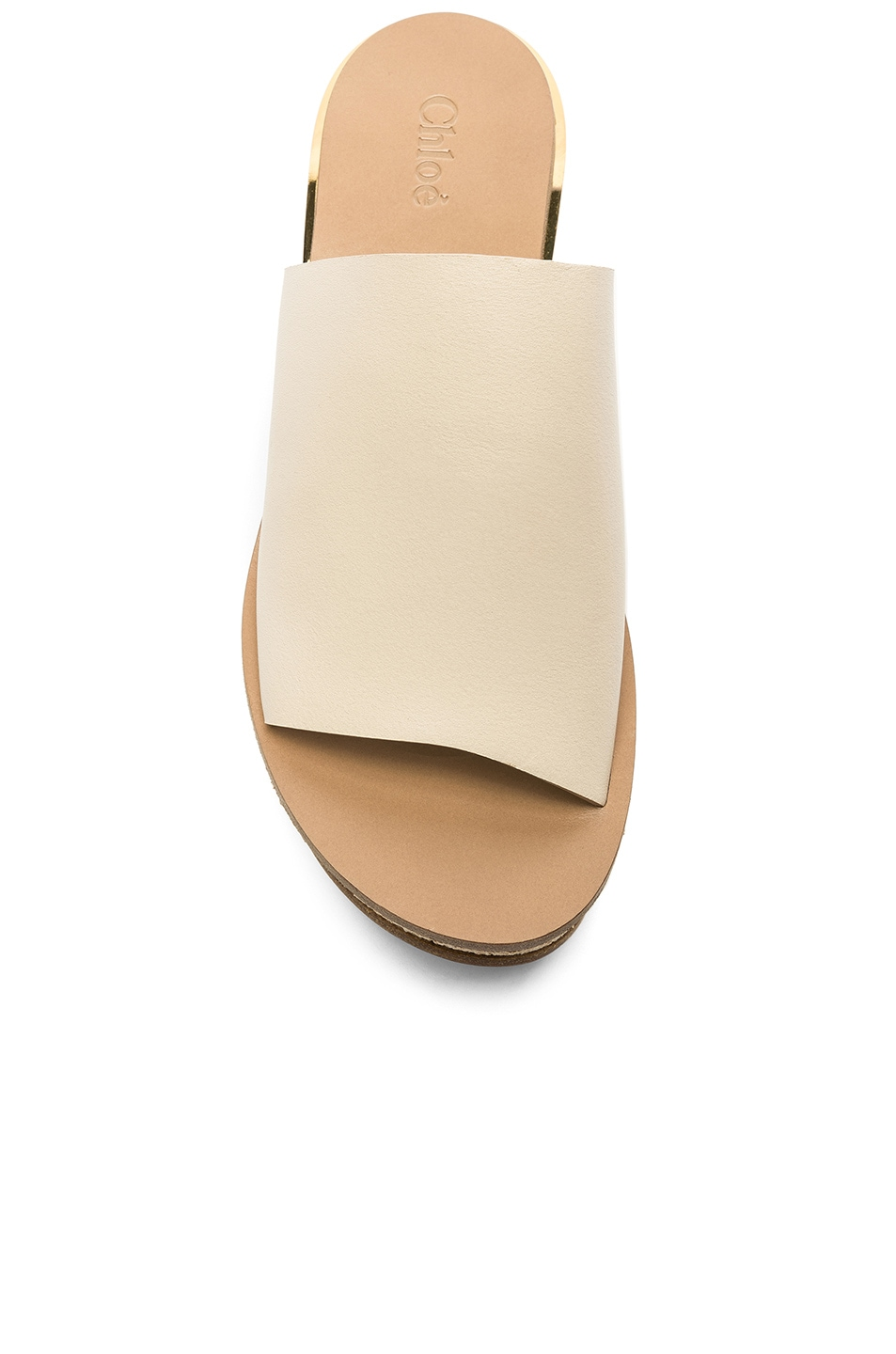 Image 4 of Chloe Platform Sandals in Mild Beige