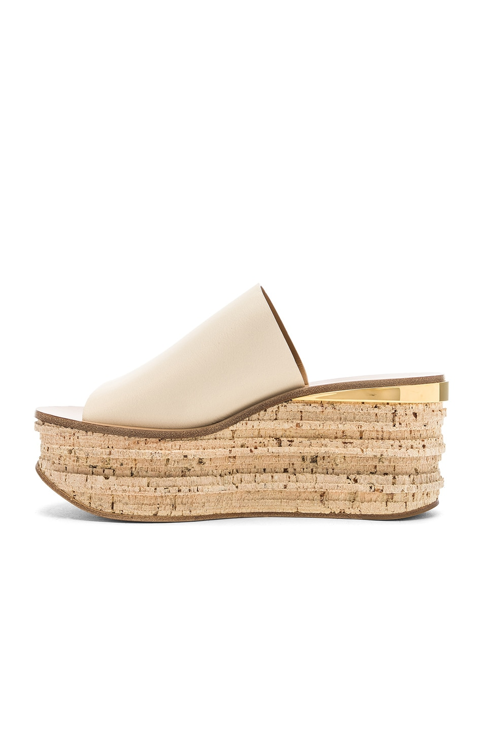 Image 5 of Chloe Platform Sandals in Mild Beige