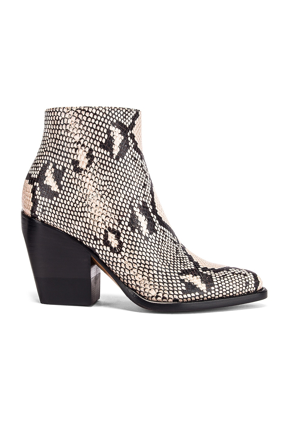 Image 1 of Chloe Python Print Ankle Boots in Eternal Grey
