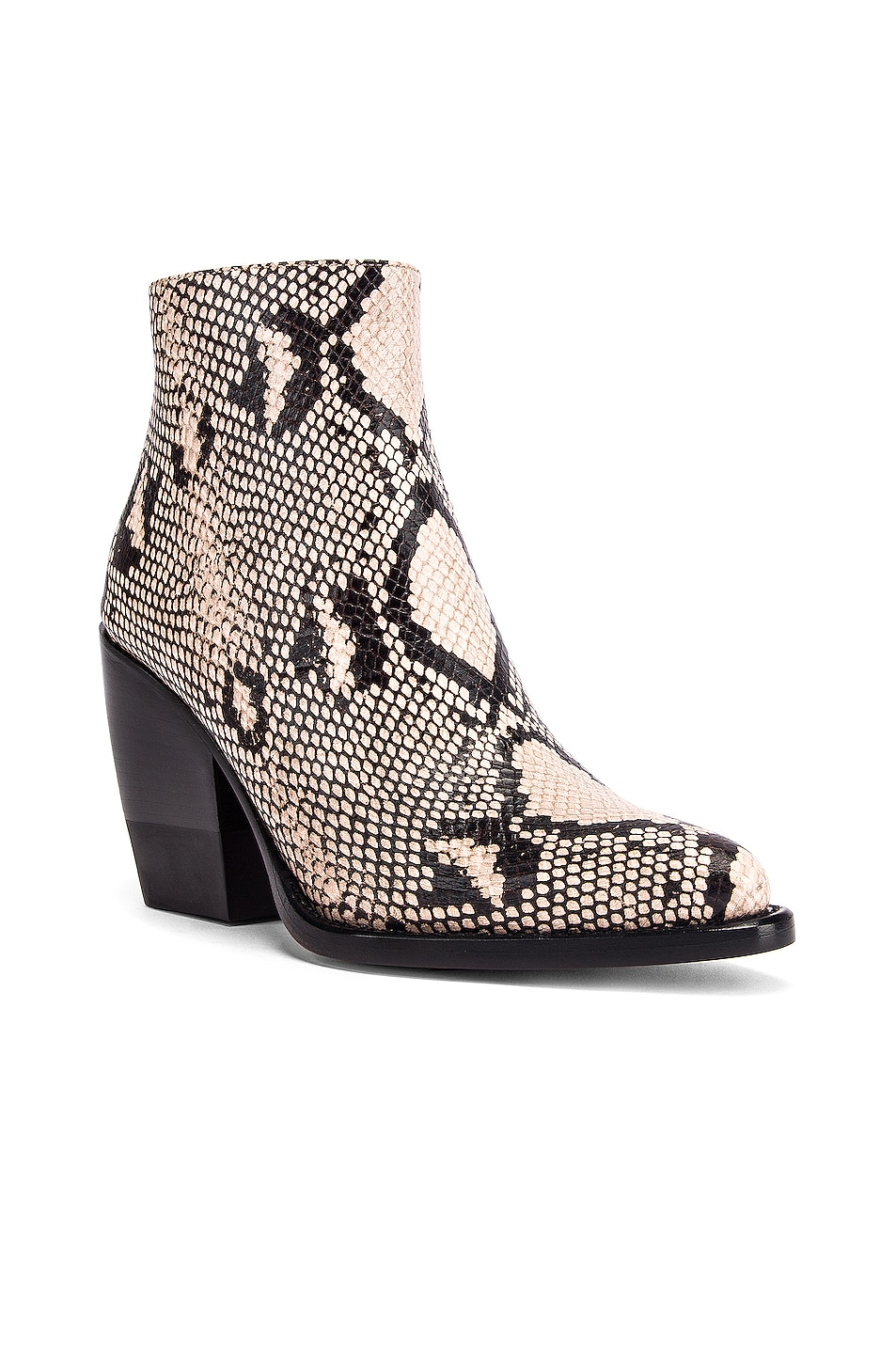 Image 2 of Chloe Python Print Ankle Boots in Eternal Grey