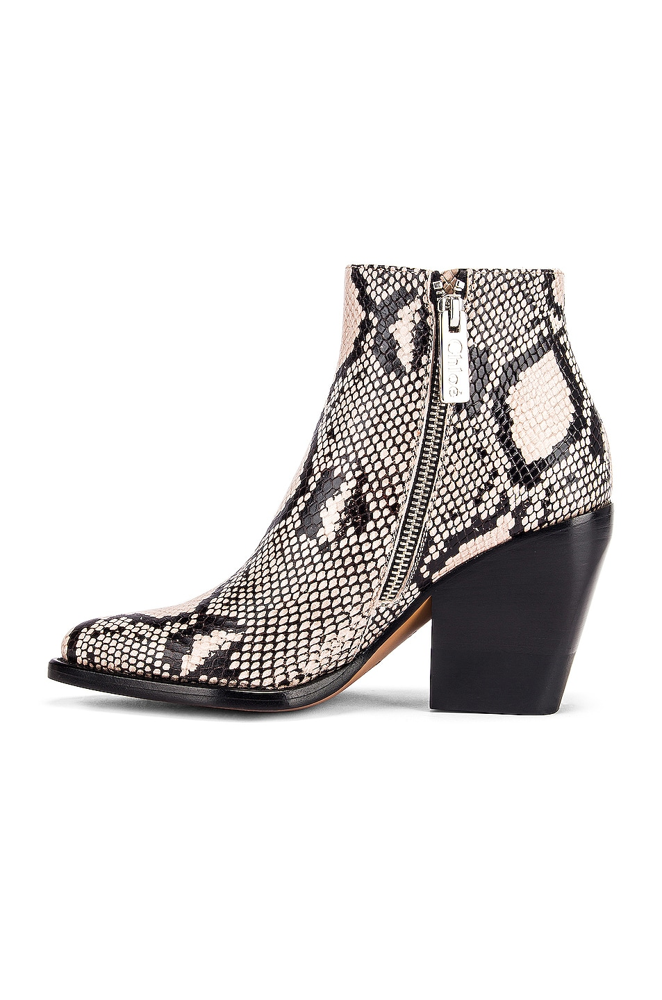 Image 5 of Chloe Python Print Ankle Boots in Eternal Grey