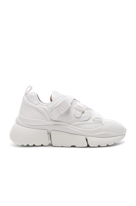 Image 1 of Chloe Platform Sneakers in White