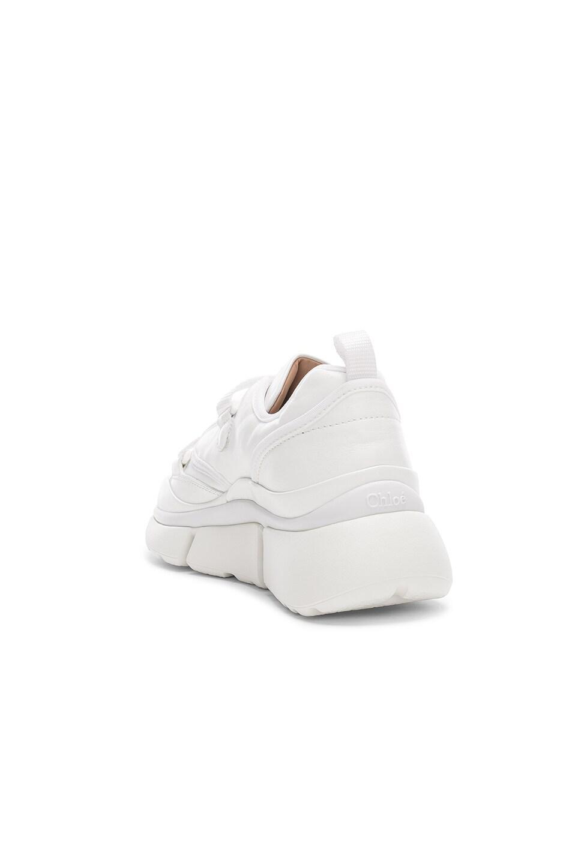 Image 3 of Chloe Platform Sneakers in White