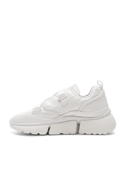 Image 5 of Chloe Platform Sneakers in White