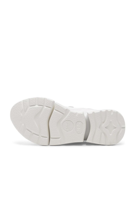 Image 6 of Chloe Platform Sneakers in White