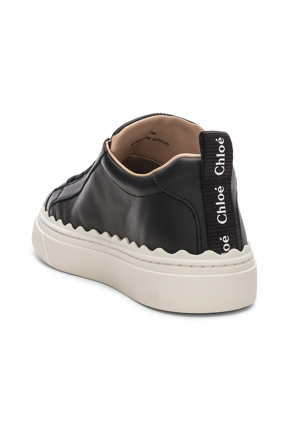 Image 3 of Chloe Low Top Sneakers in Black