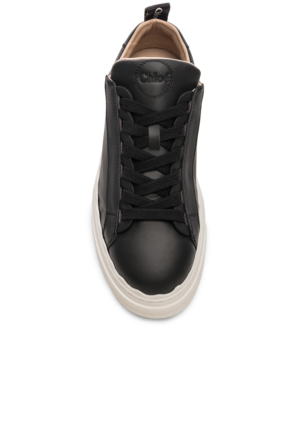Image 4 of Chloe Low Top Sneakers in Black