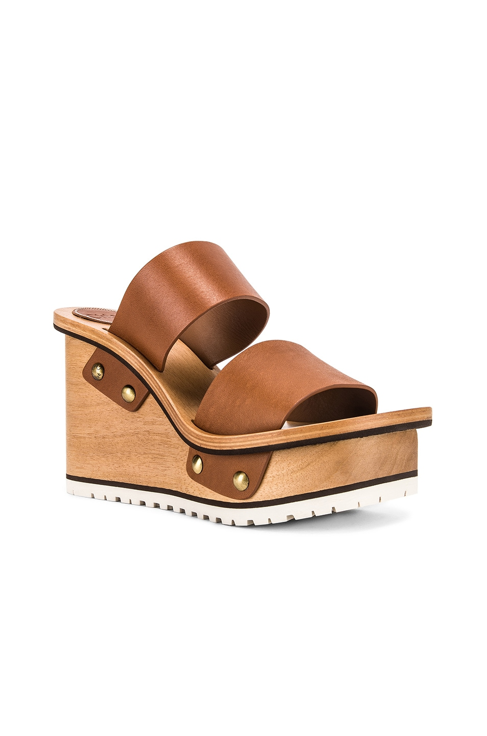 Image 2 of Chloe Two Strap Wedge in Woody Beige