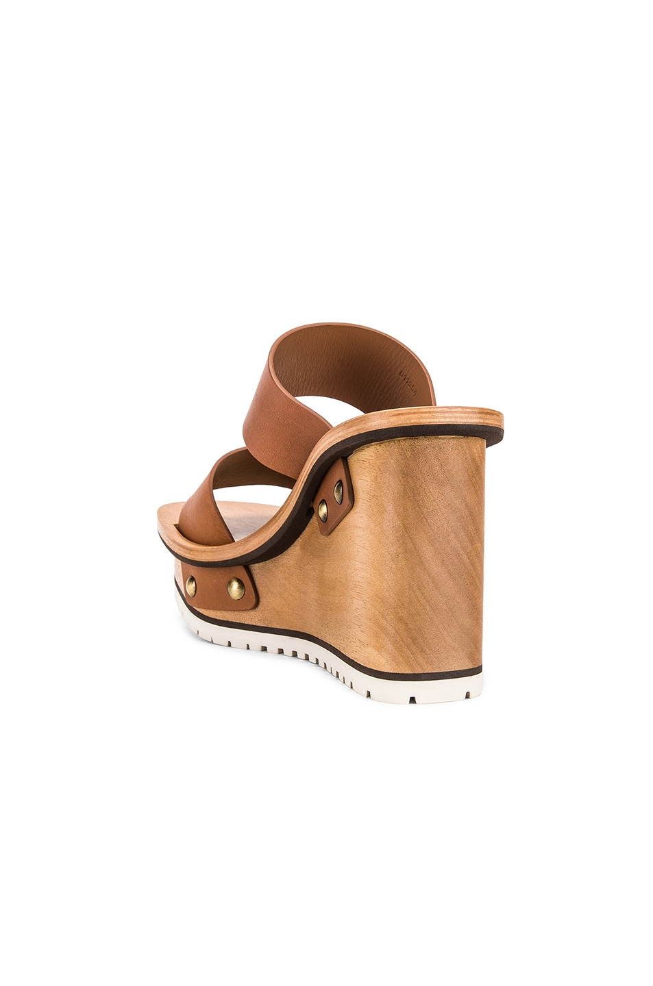 Image 3 of Chloe Two Strap Wedge in Woody Beige