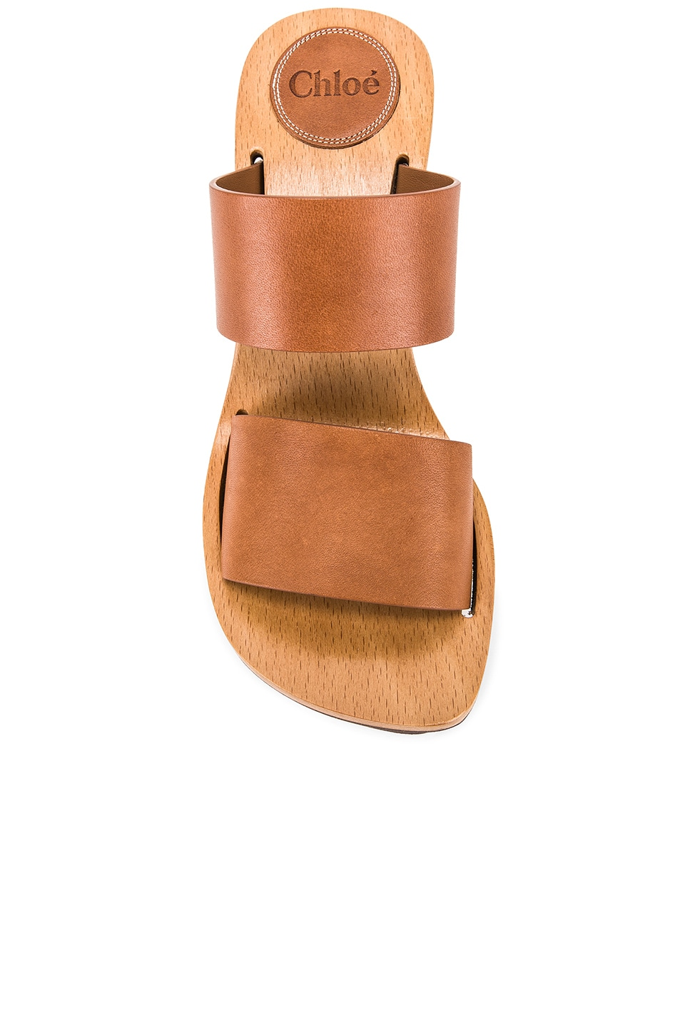 Image 4 of Chloe Two Strap Wedge in Woody Beige