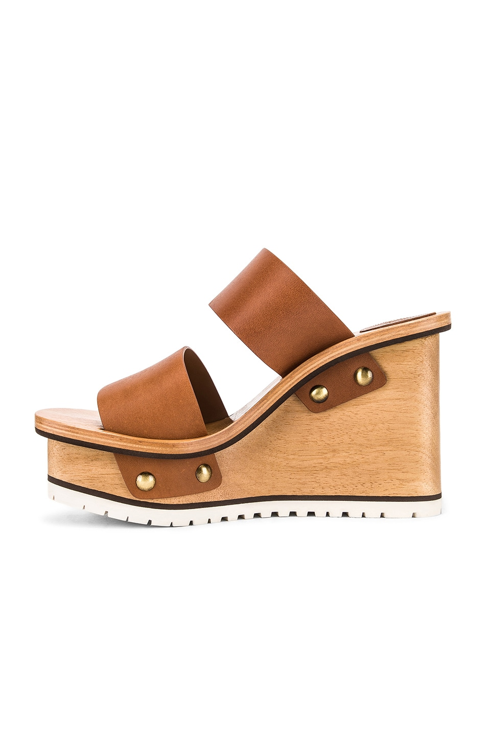 Image 5 of Chloe Two Strap Wedge in Woody Beige
