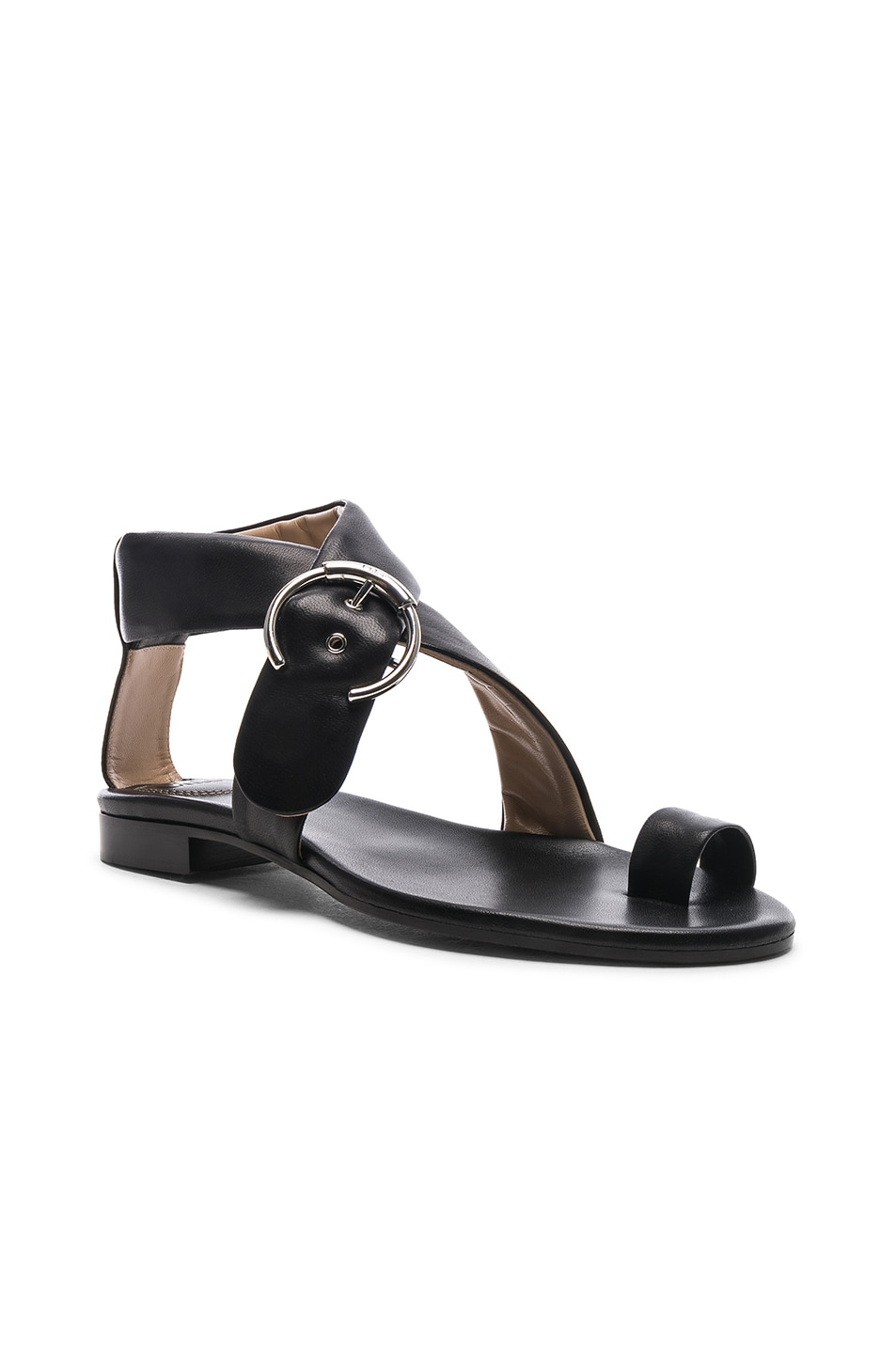 Image 2 of Chloe Two Strap Sandals in Black