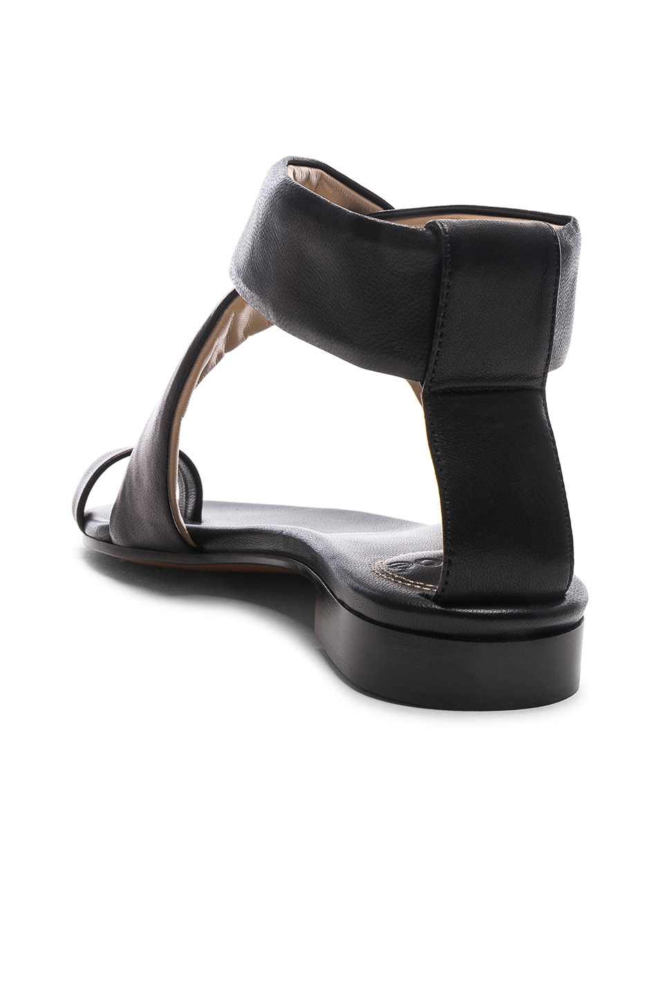 Image 3 of Chloe Two Strap Sandals in Black