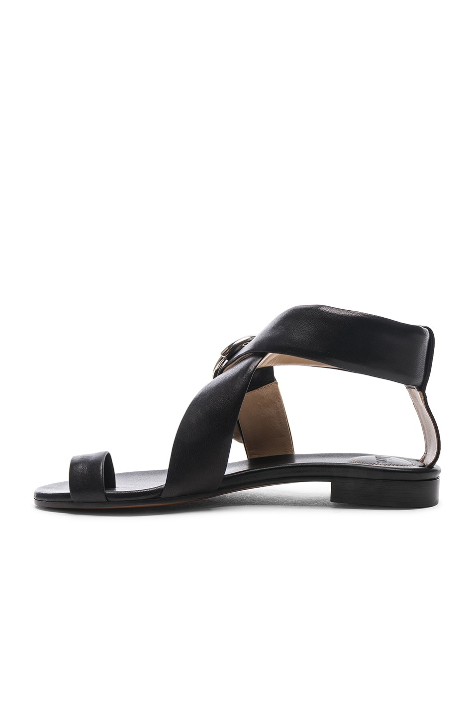 Image 5 of Chloe Two Strap Sandals in Black