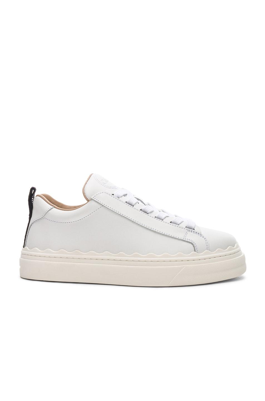 Image 1 of Chloe Lauren Low Top Sneakers in White