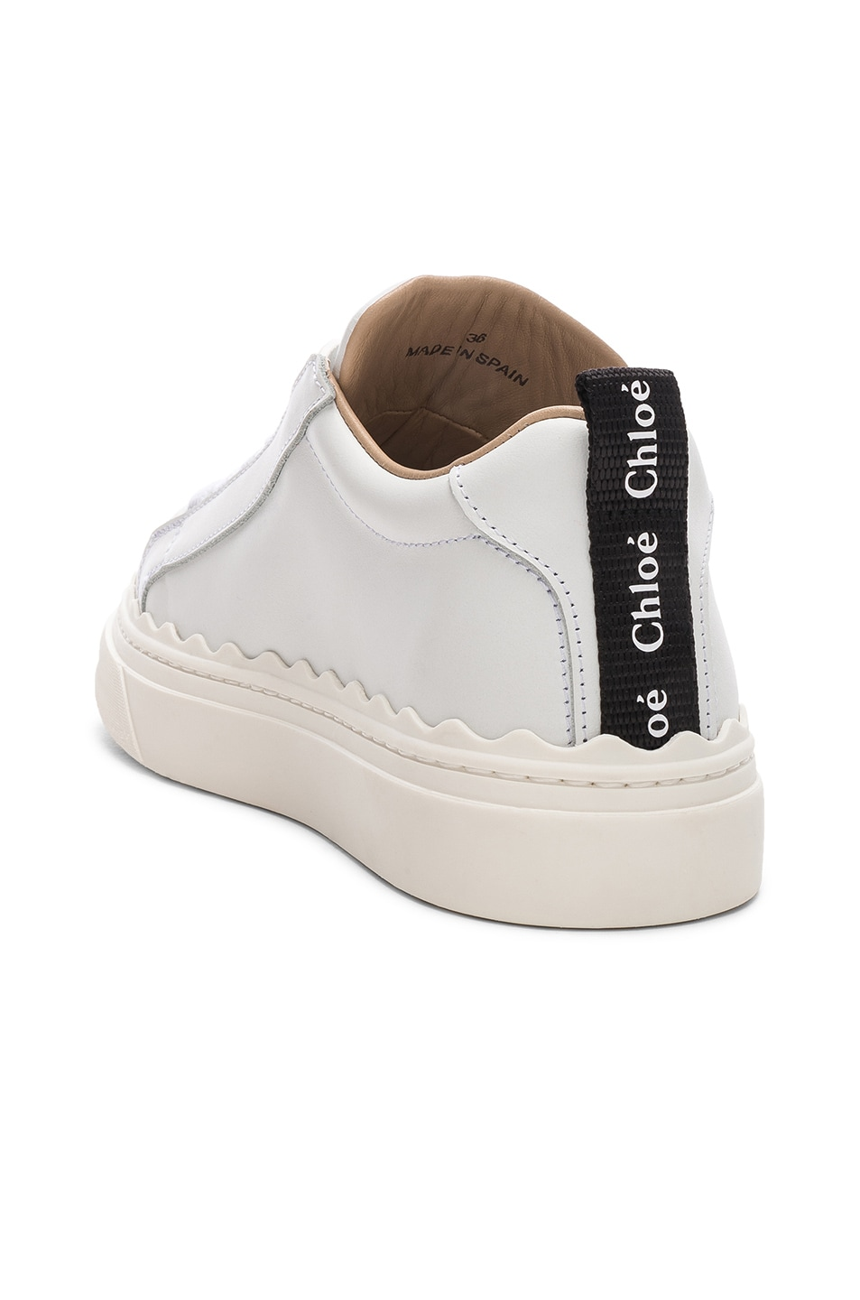 Image 3 of Chloe Low Top Sneakers in White