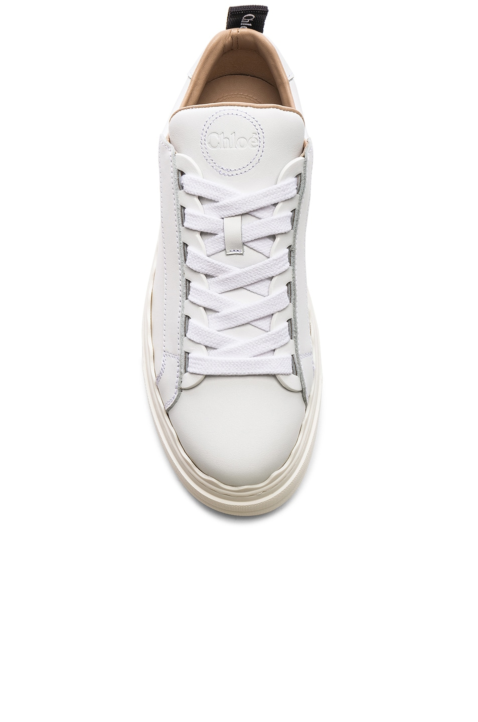 Image 4 of Chloe Low Top Sneakers in White