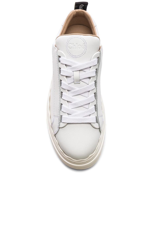 Image 4 of Chloe Lauren Low Top Sneakers in White