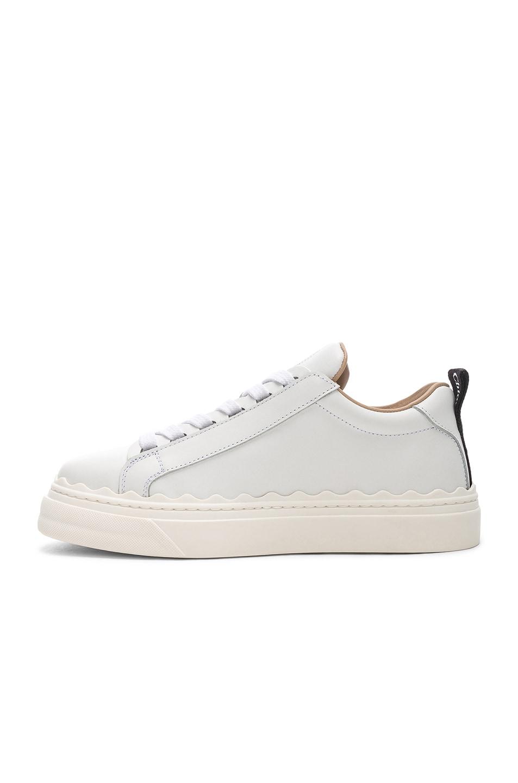 Image 5 of Chloe Lauren Low Top Sneakers in White