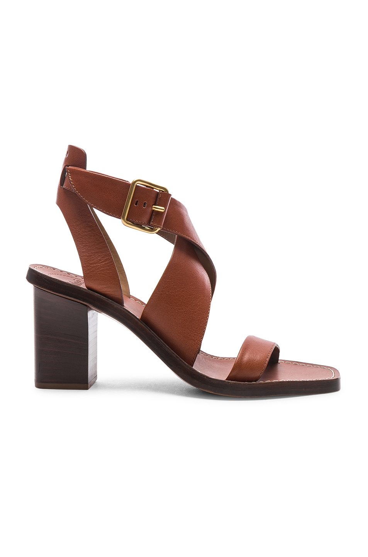 Image 1 of Chloe Block Heels in Chestnut Brown