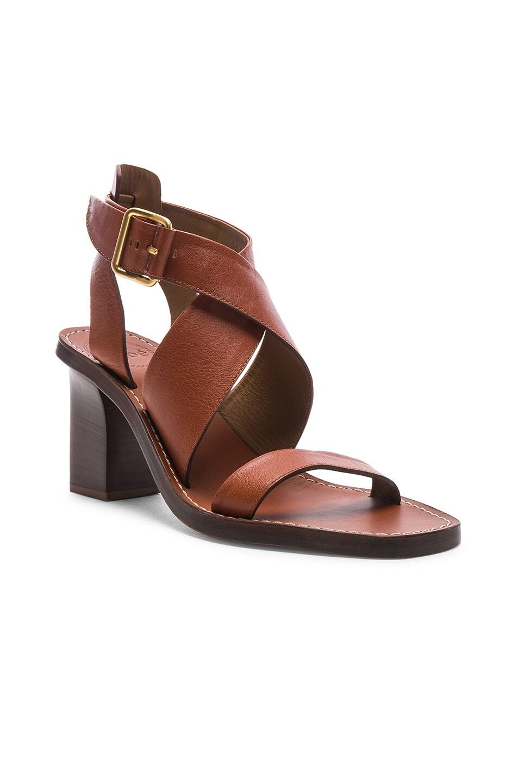 Image 2 of Chloe Block Heels in Chestnut Brown