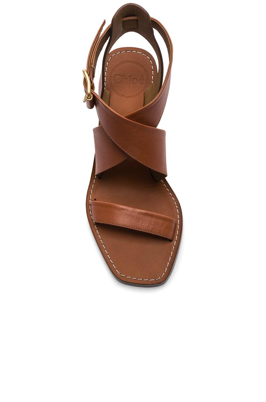 Image 4 of Chloe Block Heels in Chestnut Brown