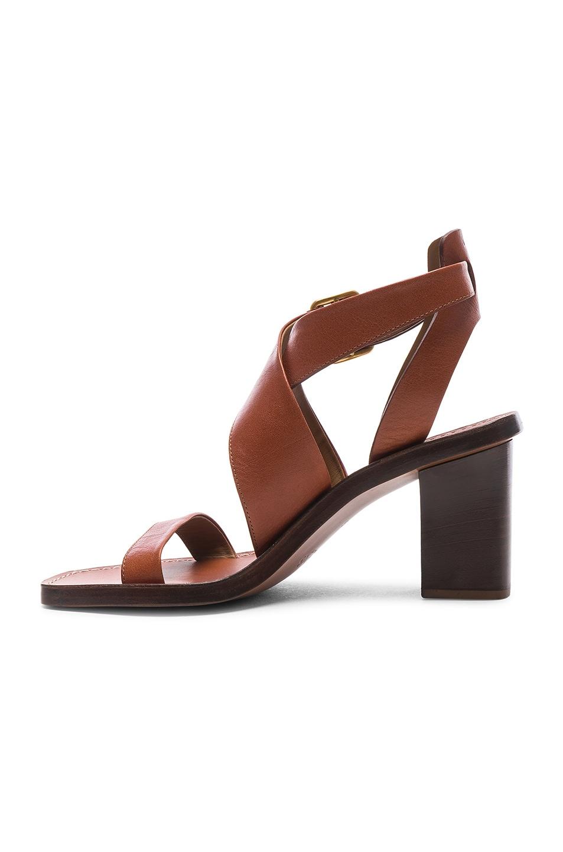 Image 5 of Chloe Block Heels in Chestnut Brown