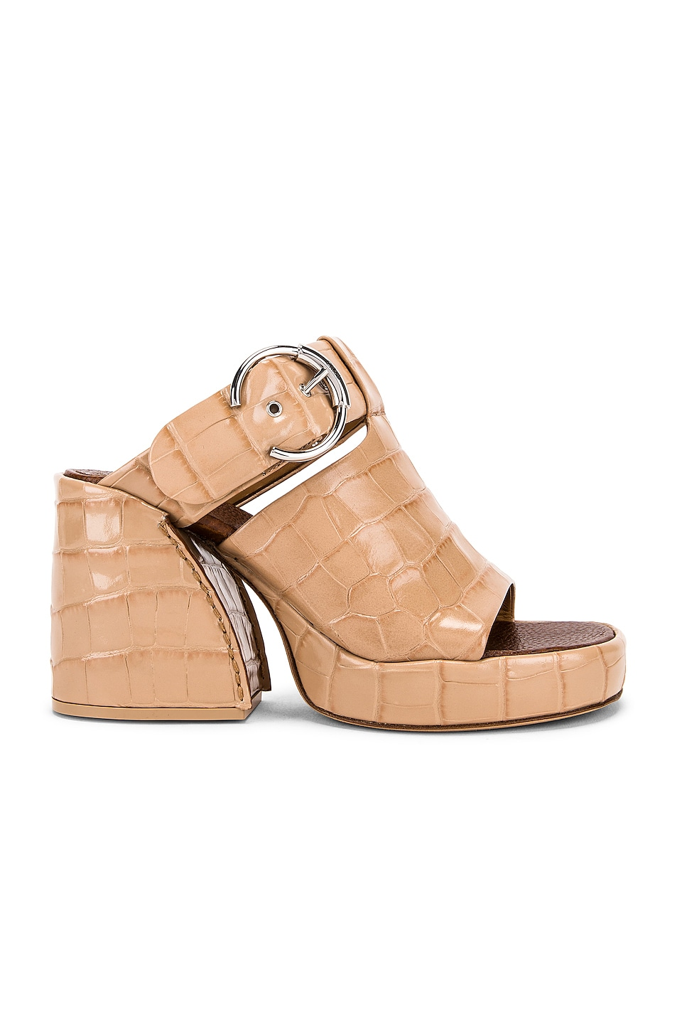 Image 1 of Chloe Buckle Platform Sandals in Nougat