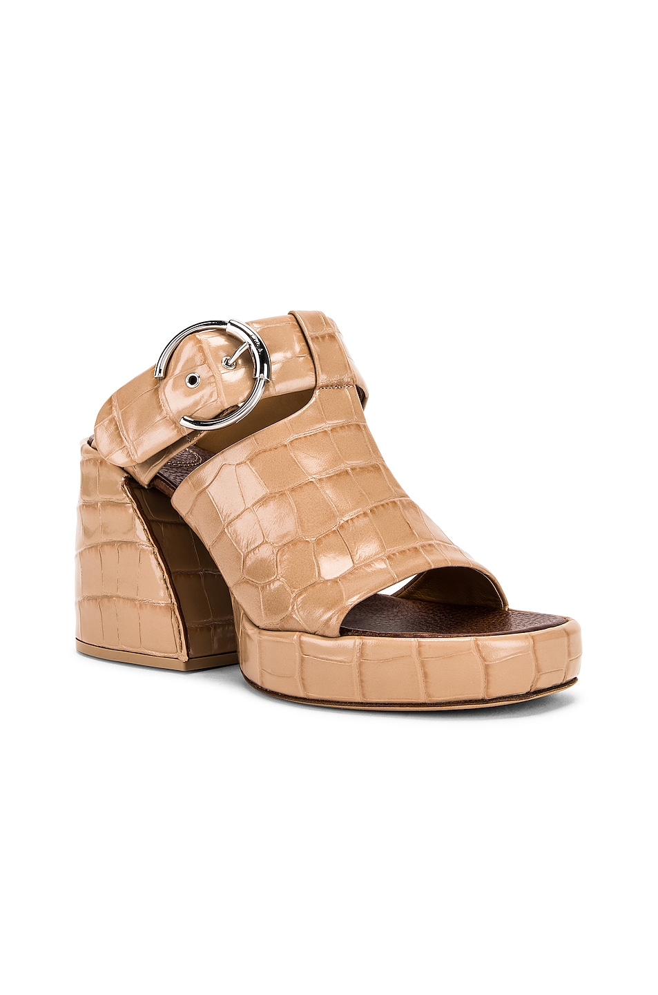 Image 2 of Chloe Buckle Platform Sandals in Nougat