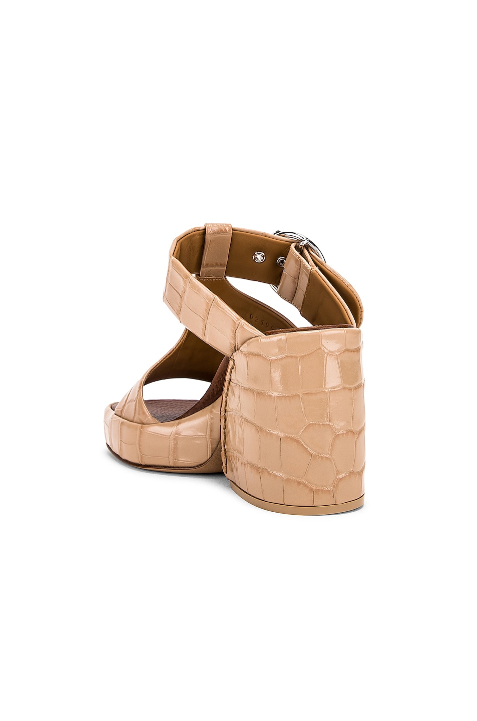Image 3 of Chloe Buckle Platform Sandals in Nougat