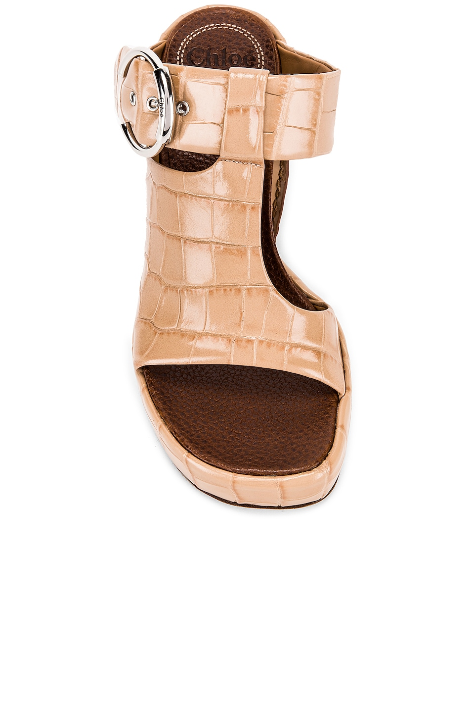 Image 4 of Chloe Buckle Platform Sandals in Nougat
