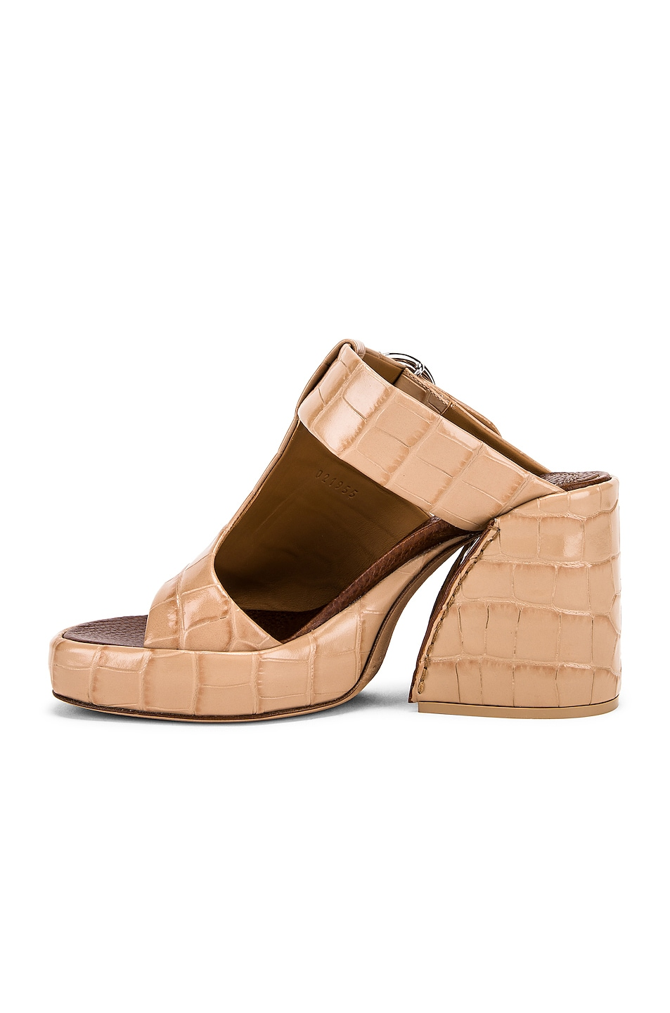 Image 5 of Chloe Buckle Platform Sandals in Nougat