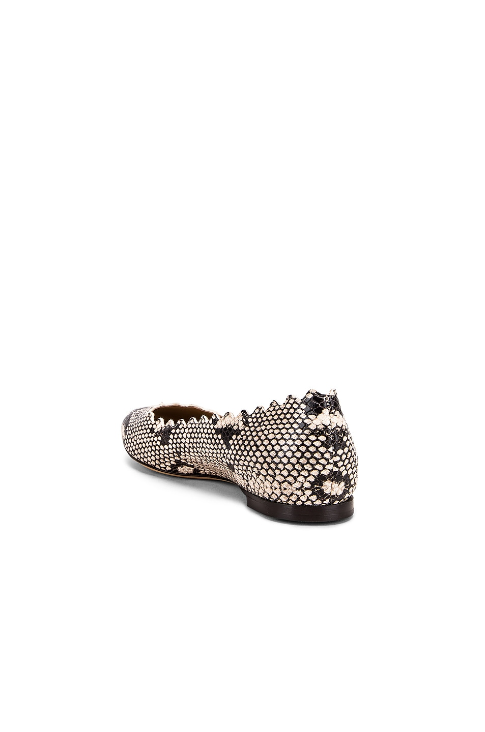 Image 3 of Chloe Python Print Flats in Eternal Grey