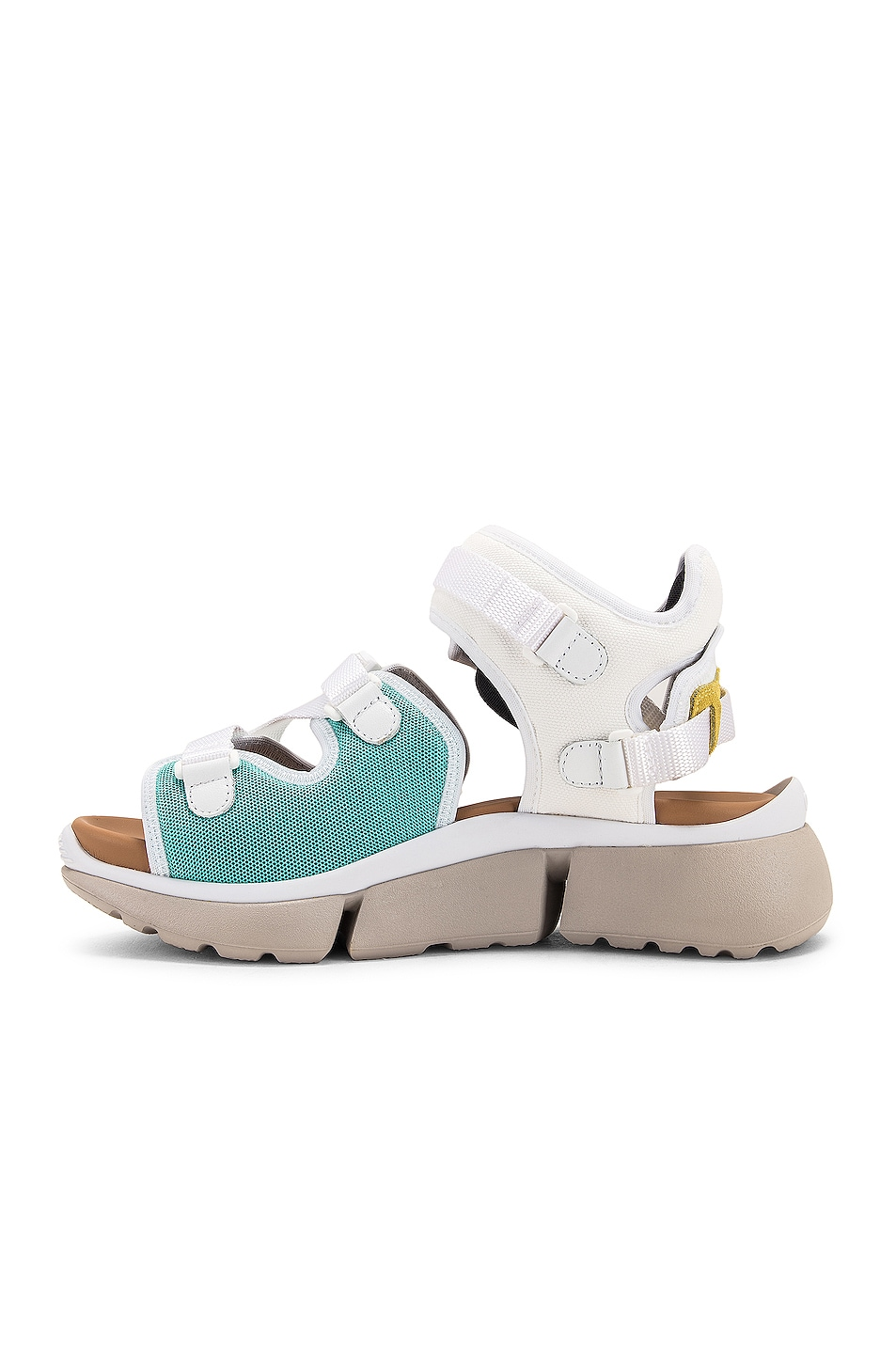 Image 5 of Chloe Open Sneakers in Natural White