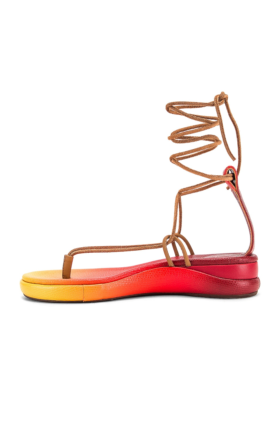 Image 5 of Chloe Tie Sandals in Yellow & Red