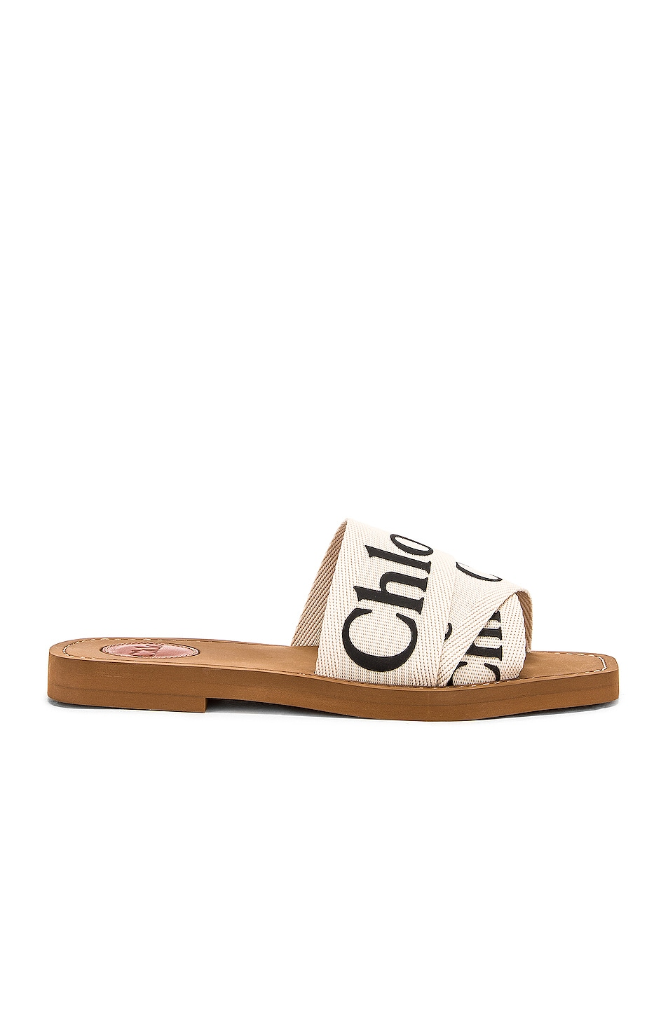 Image 2 of Chloe Logo Sandals in White
