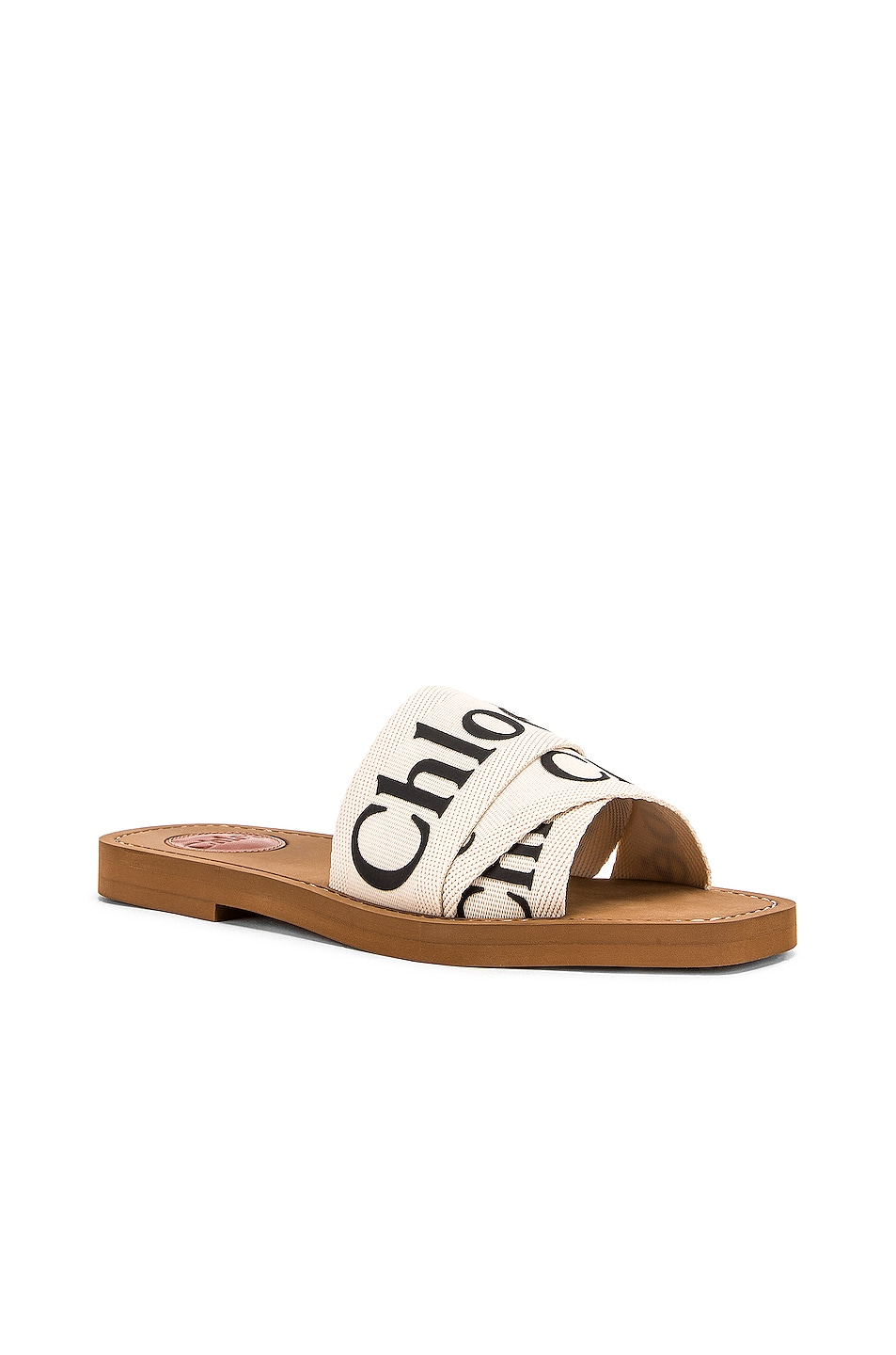 Image 3 of Chloe Logo Sandals in White