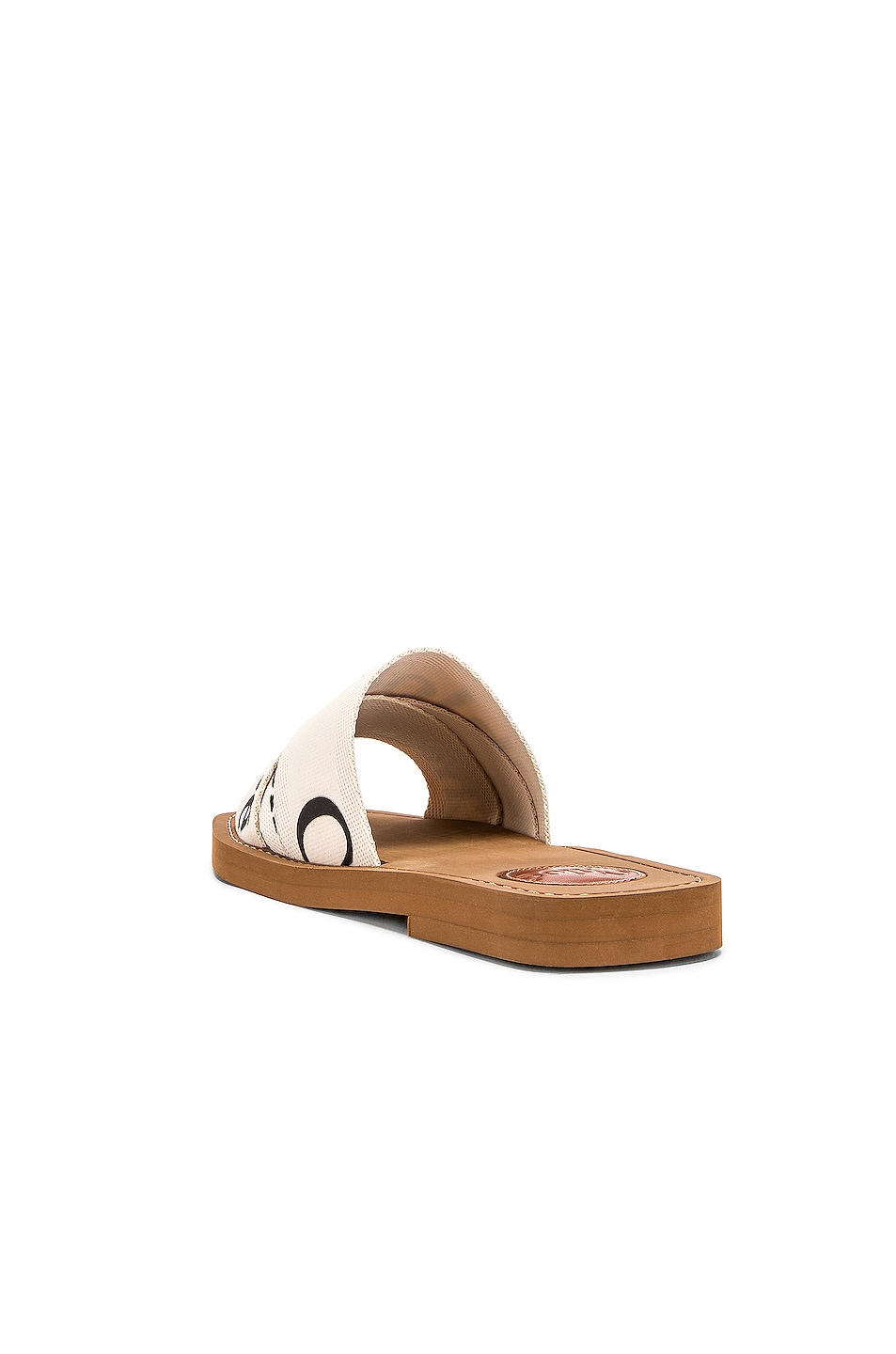 Image 4 of Chloe Logo Sandals in White