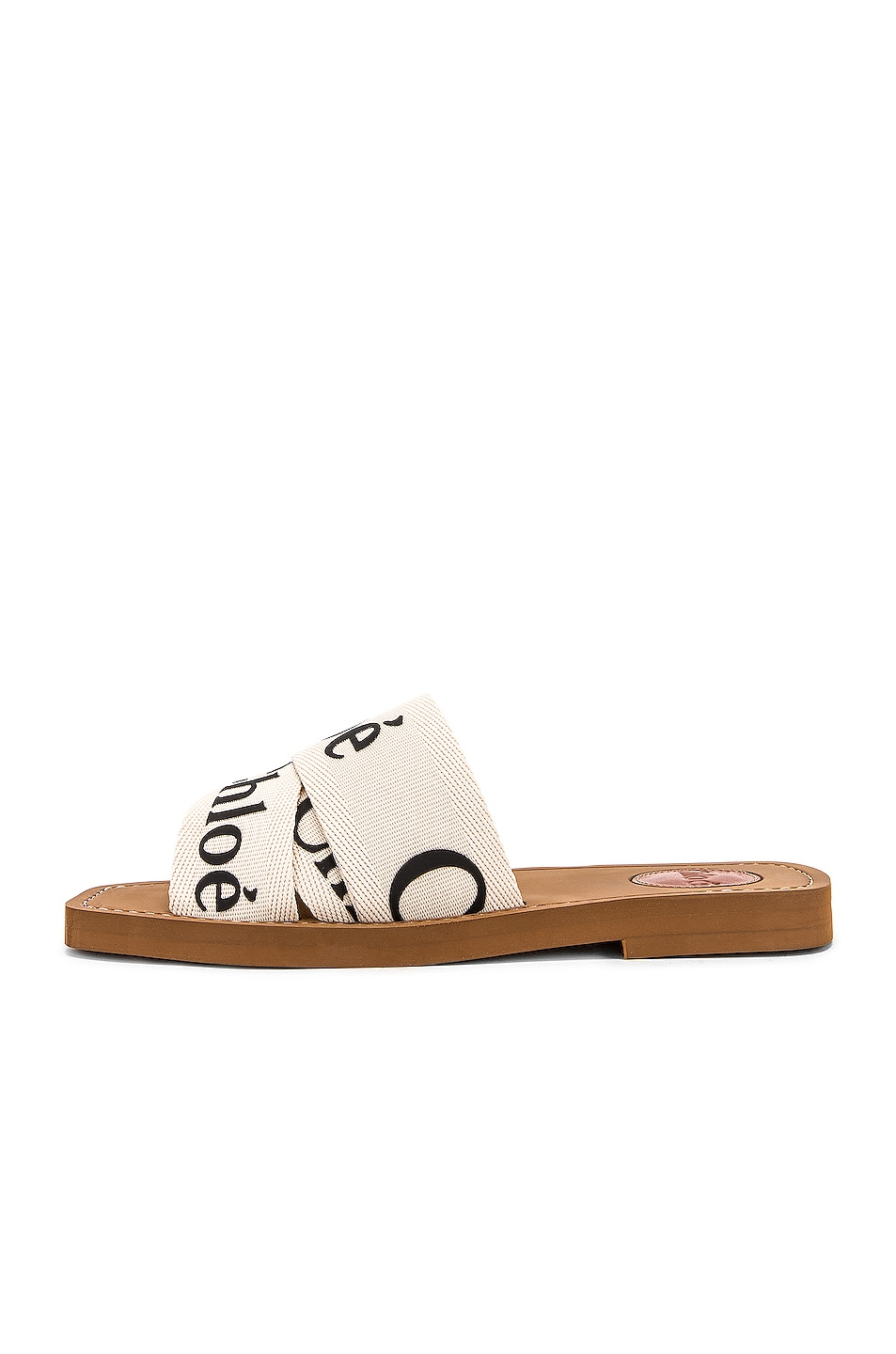 Image 5 of Chloe Logo Sandals in White