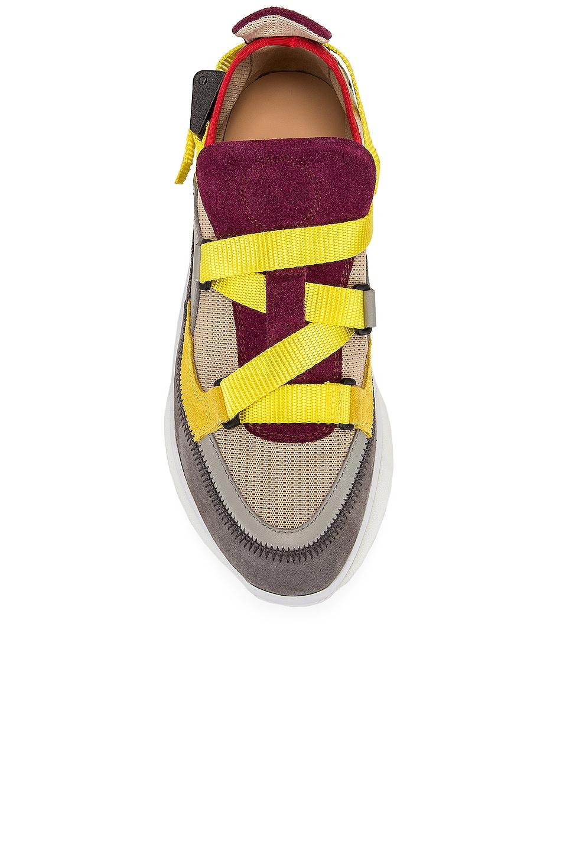 Image 4 of Chloe Colorblock Sneakers in Purple Bud