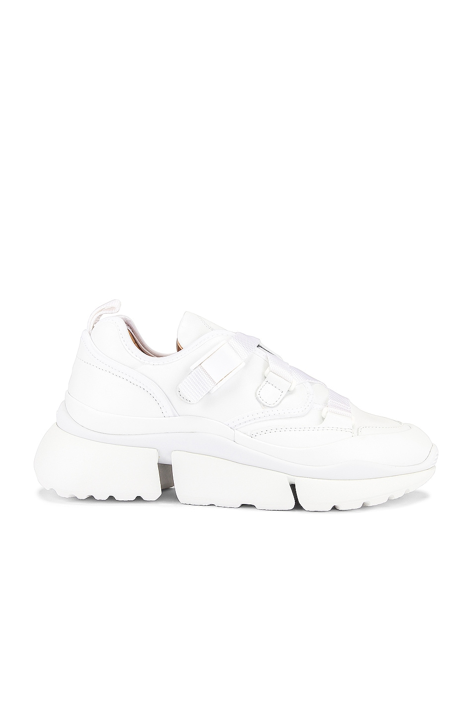 Image 1 of Chloe Sonnie Sneakers in White