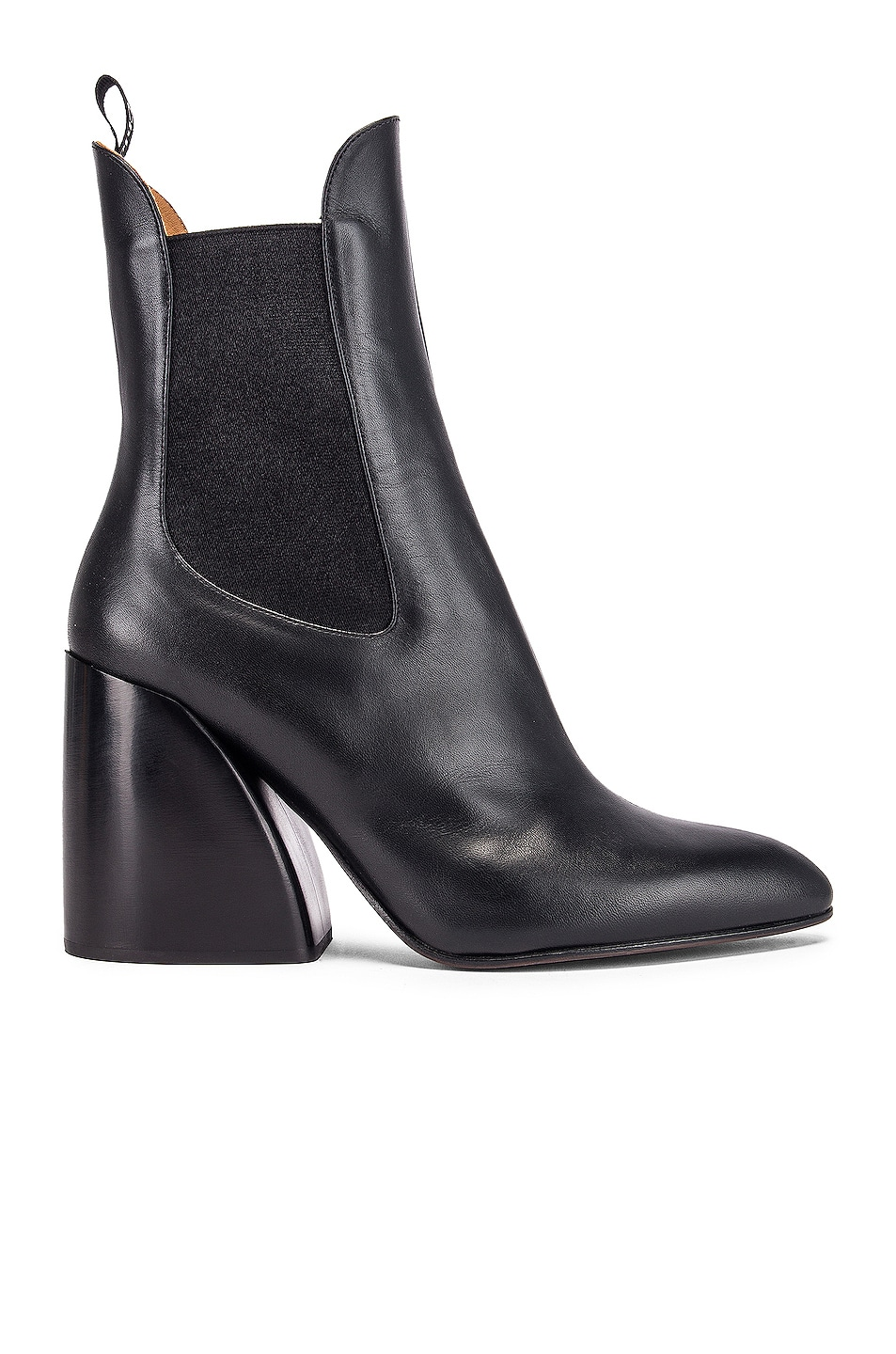 Image 1 of Chloe Leather Ankle Booties in Black