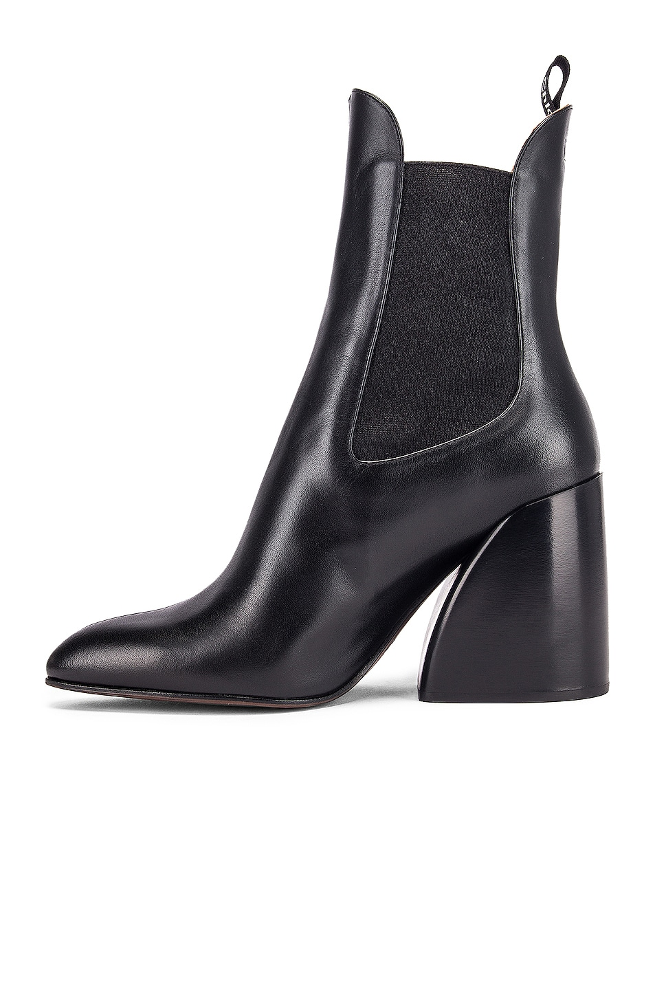 Image 5 of Chloe Leather Ankle Booties in Black