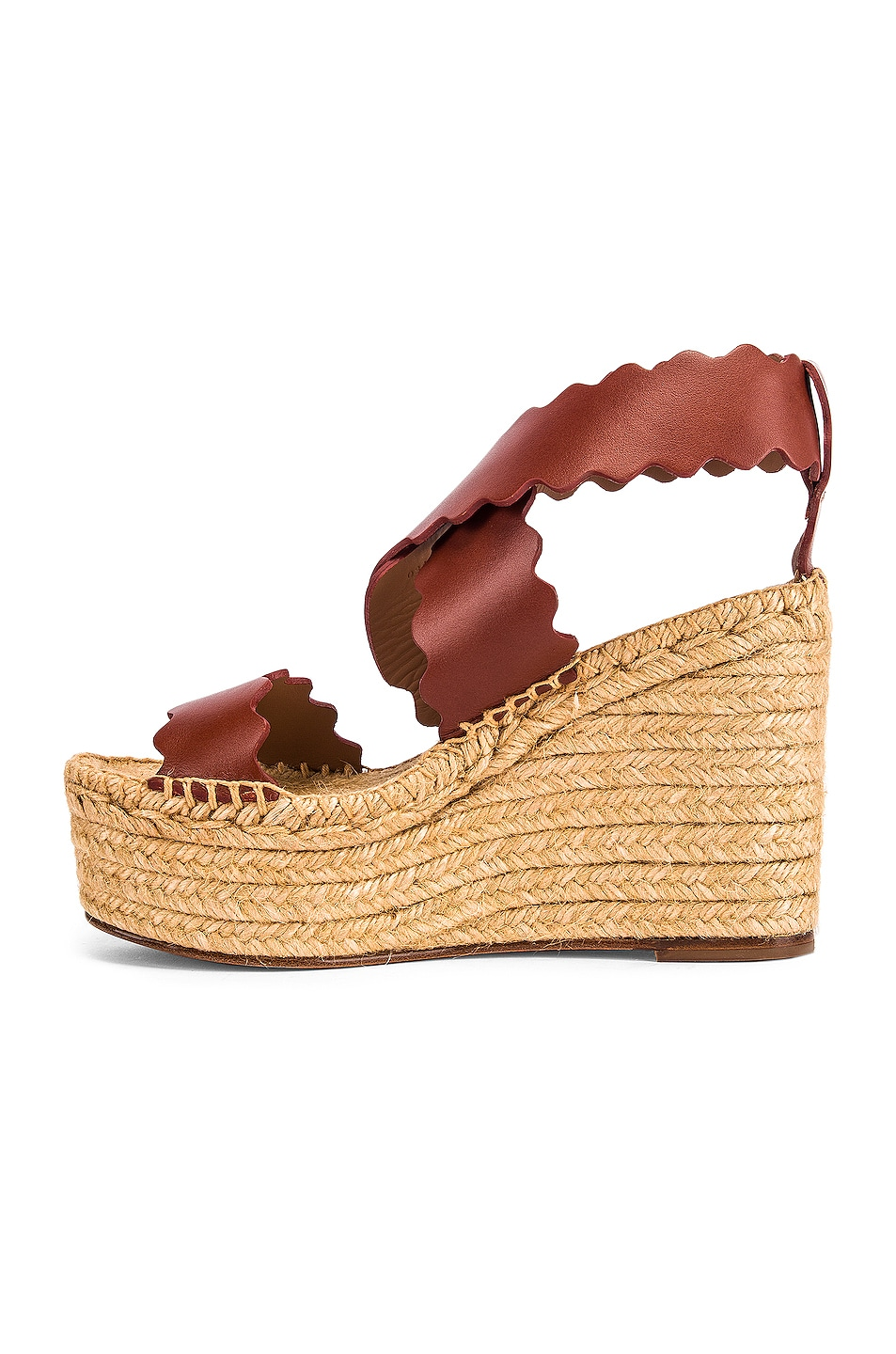 Image 5 of Chloe Leather Wedges in Sepia Brown