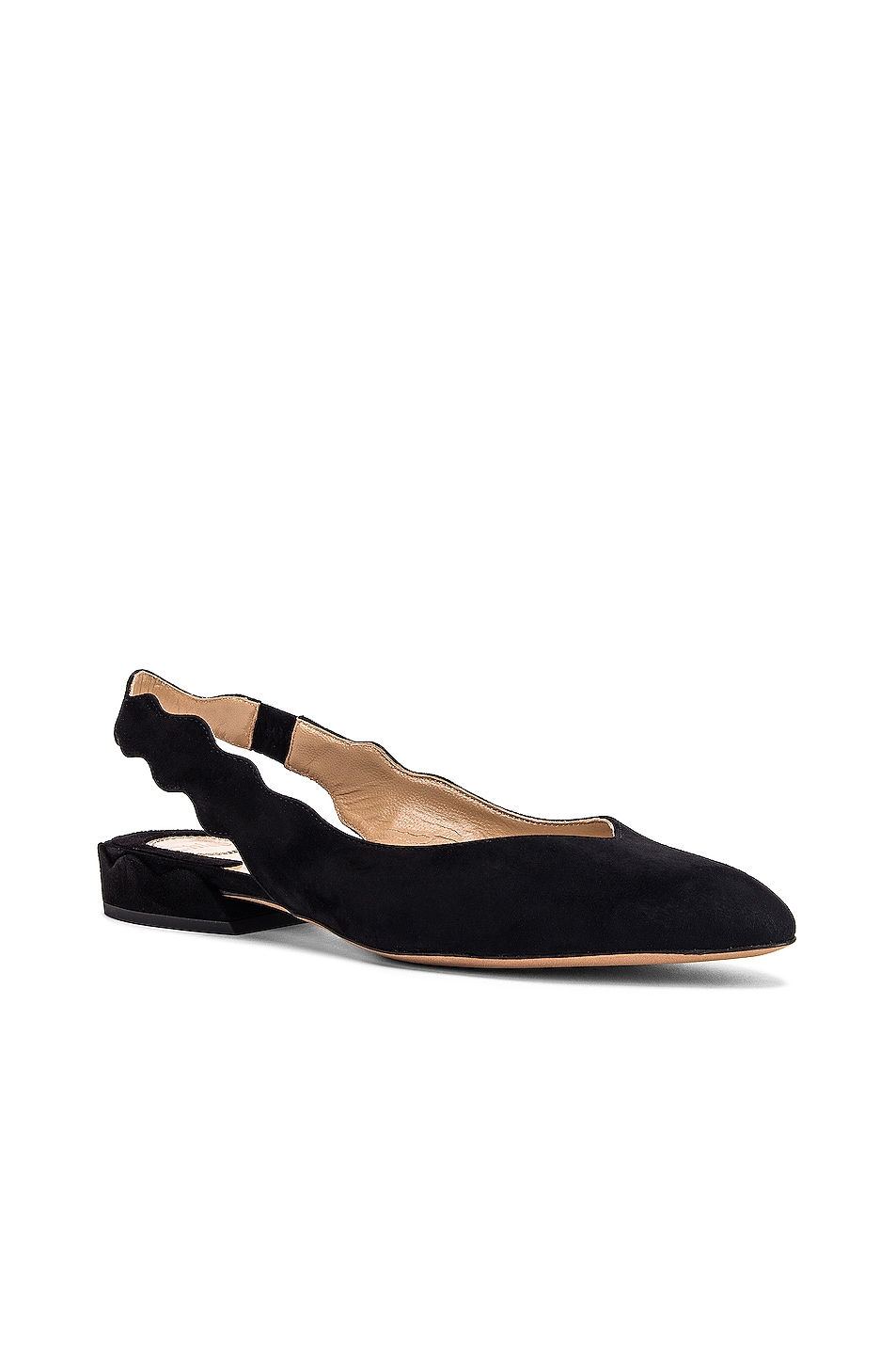 Image 2 of Chloe Laurena Slingback Flats in Black