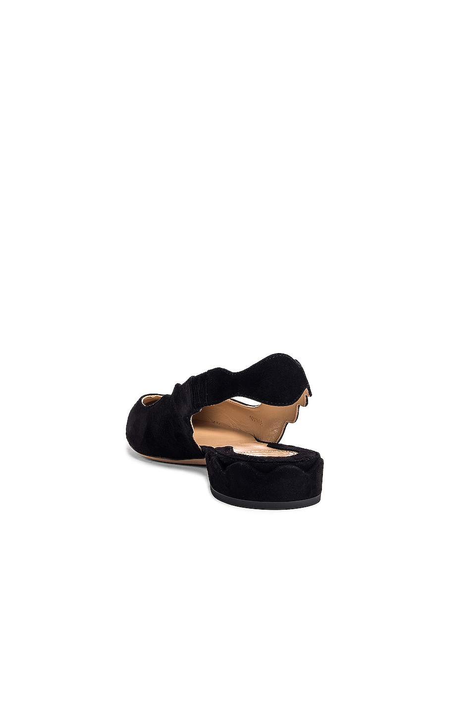 Image 3 of Chloe Laurena Slingback Flats in Black