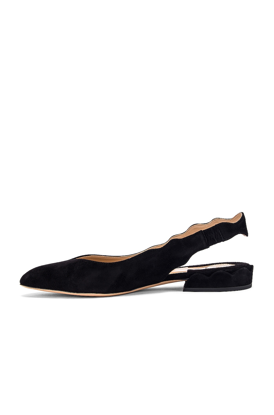 Image 5 of Chloe Laurena Slingback Flats in Black