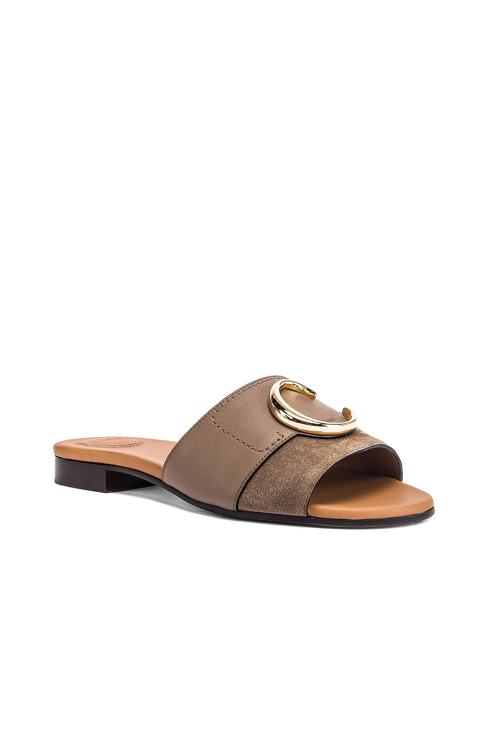 Image 3 of Chloe Flat Sandals in Motty Grey